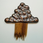 Cloudburst, 2014, copper and wood. 13