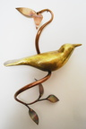 Bird on Vine, 2016, Brass and Copper, 7.5