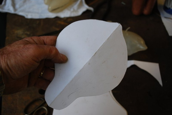 6. The paper was cut while folded to ensure symmetry.