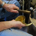 42. more final planishing, using a hammer that fits the curve.
