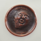 Muddy Waters Plaque, Made from 16 gauge copper with repousse and chasing, 8-1/2